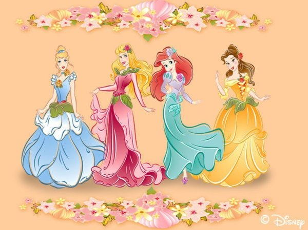 A pretty take on some traditional Disney Princess dresses. I'd like to make a doll dress similar to these one day :D