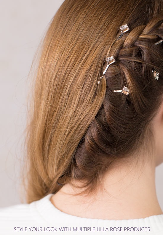 lilla rose bobby pins in braid
